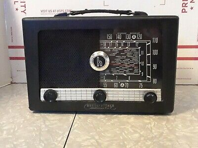 Vintage hallicrafters Continental S-103 tube am shortwave radio tested powers up