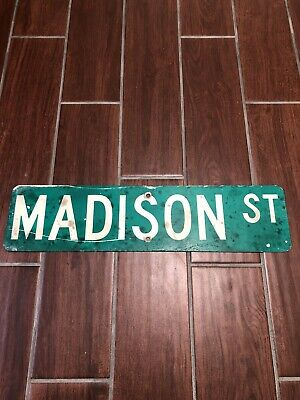 Madison  ST Retired street sign From Waycross Georgia, Old Vintage Man Cave