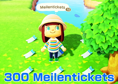 ***Animal Crossing New Horizons- 300 Nook Meilentickets*** (Nook Miles Tickets)