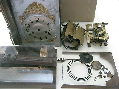 Antique Clock for Repair or Spares Various Old Parts Bits and Pieces Vintage