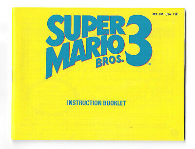 Super Mario Bros. 3 III (Nintendo) OEM NES Instruction MANUAL Book booklet