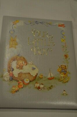 "Vintage Hallmark Baby Book ""Our Little Boy"" Keepsake Album NEW"