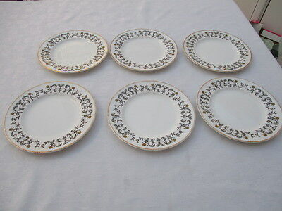 vintage lubern bone china 22 kt gold 6 salad plates very good used condition