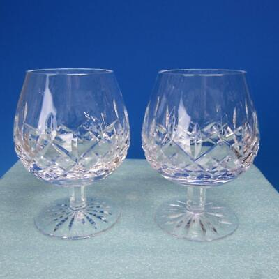 Waterford Crystal - Lismore Pattern - 2 Brandy Snifter Glasses - 5 1/8 inches