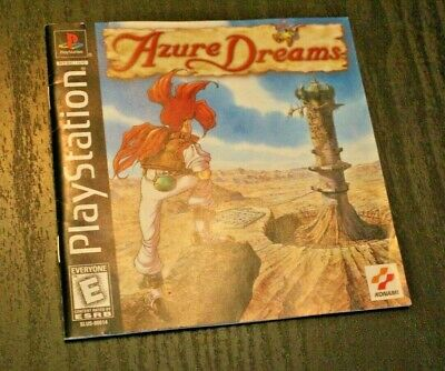 Authentic   Azure Dreams   MANUAL ONLY PS1  Sony Playstation 1
