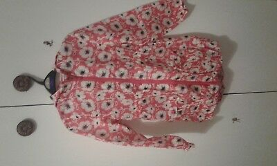 Next red flower patterned rain jacket age 7/8