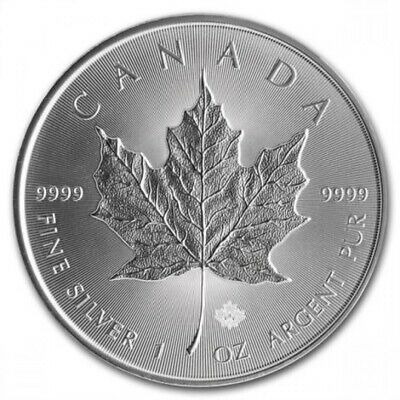 2016 1 oz Canadian Silver Maple Leaf $5 Coin 1 Troy Ounce of .9999 Fine Silver