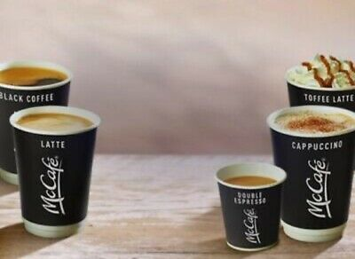 1200 Mcdonalds Coffee / Hot Drinks Loyalty Stickers 200 Cups Exp 31-12-2020