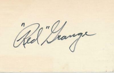 Red Grange- Signed Index Card
