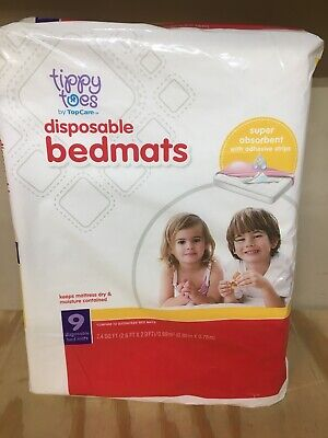 Disposable Bed Mats 9 Count Boys Girls New - tippy Toes