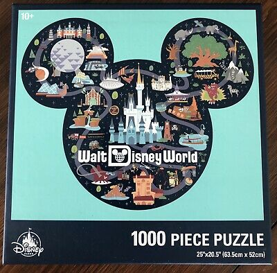 Mickey Mouse Icon Walt Disney World Map 1000 piece Puzzle Brand New Sealed