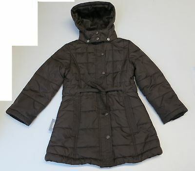 Girls Size 5 6 Years Ticket To Heaven Jacket Coat Winter Warm Quilted  Brown