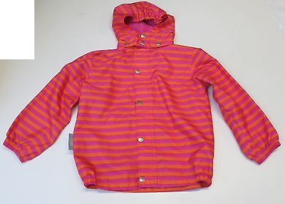 Girls Size 110/5 Years Ticket To Heaven Thin Rain Jacket Striped Hot Pink Vgc