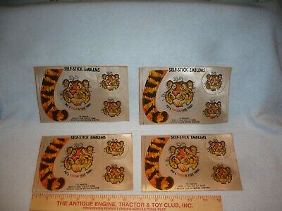 1960s ESSO Oil   Giveaways Put a Tiger In Your Tank  Unused Decals lot of 4 free