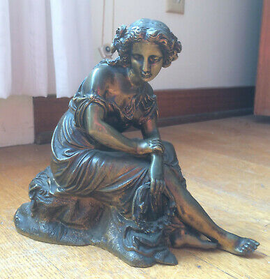 ? BOSIO   late 19th Century  French BRONZE of a   SEATED WOMAN