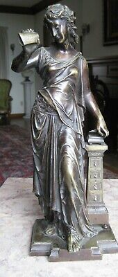 BOURET     19th C  French BRONZE  of a WOMAN