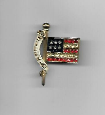 1940 Wendell Willkie Flag Jewelry Pin