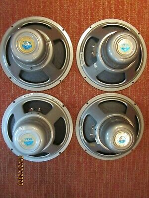 "4-Vintage Vox Silver Bell 12"" -T1088 Speakers Rare and clean-8 ohm-4 Beatle cab"