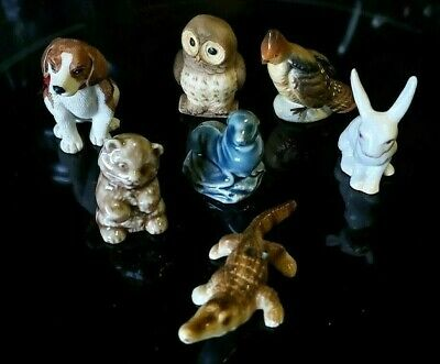 Lot of 7 Miniature Animals - Includes Bone China - Wade &  More