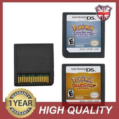 Pokemon HeartGold SoulSilver Lite Version Game Card For Nintendo 3DS NDSI NDS
