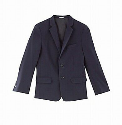 Calvin Klein Blue Size 14 Boy's Two Button Modern Fit Blazer Jacket $99 #705