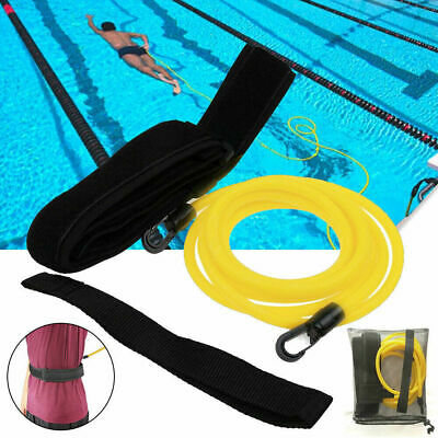 3M Swimming Bungee Exerciser Leash Cord Swim Belt Safety Pool for Adult Kids UK