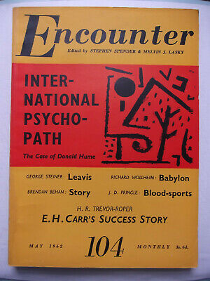 Encounter Magazine May 1962 # Donald Hume # Brendan Behan # Blood Sports