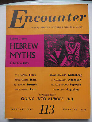 Encounter Magazine Feb 1963 # Hebrew Myths # Robert Graves & Raphael Patai