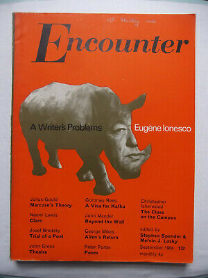 Encounter Magazine  Sept 1964 # Eugene Ionesco # Christopher Isherwood # Brodsky