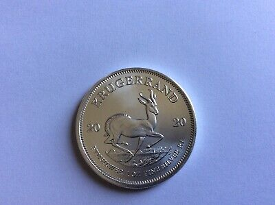 2020 1oz South African Krugerrand 1 ounce Silver Bullion Coin 999+coin capsule.