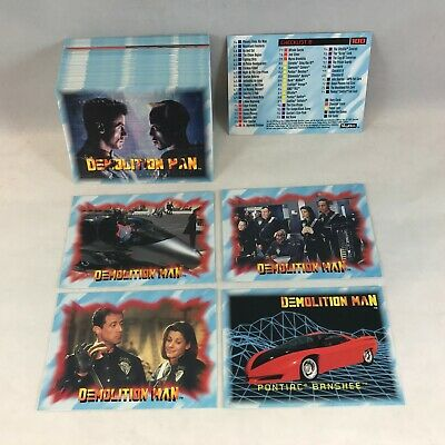 DEMOLITION MAN (Skybox 1993) Complete Trading Card Set SYLVESTER STALLONE Movie