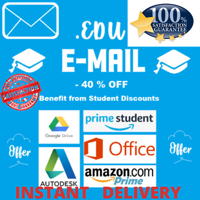 🔥Edu Email 6 Months Amazon Prime Google Drive Storage Unlimited Usa  Email🔥