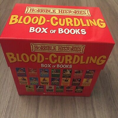 Horrible Histories Blood-Curdling Box Of Books Set 20 Books
