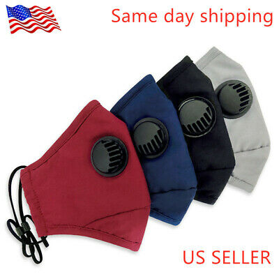 Cotton Reusable Face Mask With 1 Filter Washable Facemask PM 2.5 FREE SHIPPING!!