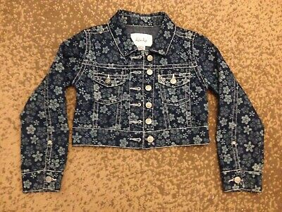A nice denim jacket for little girls for ages 6-7 years old.