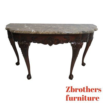 Councill Craftsman Furniture Marble Top Ball Claw Sideboard Buffet