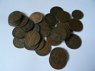 Coins LOT approx -34 coins ( half penny  )