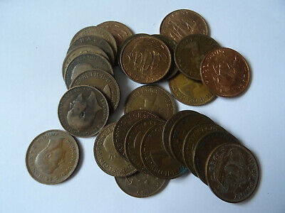 Coins LOT approx -26 coins ( half penny  )