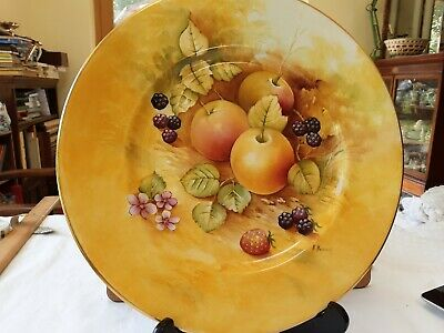Caverswall Hand Painted China Plate By K Hancock