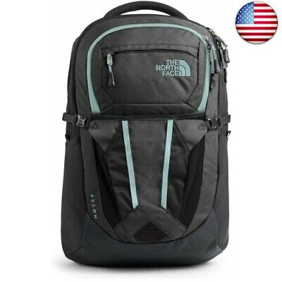 The North Face Women's Recon Backpack (Asphalt Grey Light Heather/Windmill Blue)