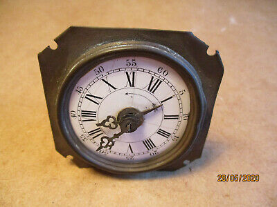 Antique Alarm Clock Movement with Enamel Dial 58mm Spares Repair