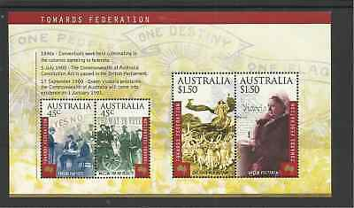 Ms1981 Australia Centenary Of The Constitution Unmounted Mint Mini Sheet