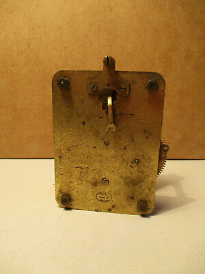 Vintage English Duvall Wall 8 Day Clock Movement Spares Repair
