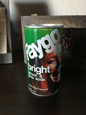 Vintage Faygo Bright Lemon & Lime Soda Pull Top Can 12oz