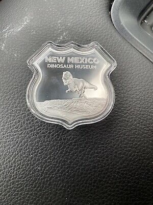 2019 1 troy oz Silver Coin Icons of Route 66 Shield Sign New Mexico Dinosaur