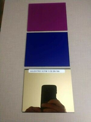 Aulektro Extreme Blue/Magenta 3pc welding lens set SH10 large 4x5