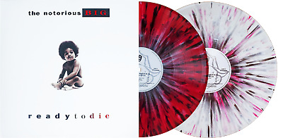 Ready To Die The Notorious B.I.G Red White Black Splatter Vinyl Me Please LP NEW