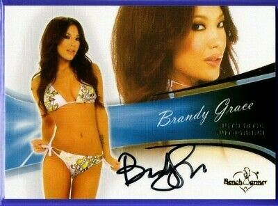 Brandy Grace  ** 2013 Benchwarmer Bubble ** Autograph **  Hot !
