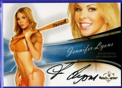 Jennifer Lyons  ** 2013 Benchwarmer Bubble ** Autograph **  Hot !