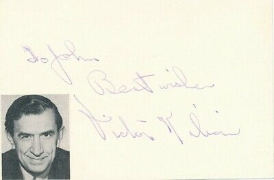 Victor Kilian- Vintage Signed Index Card in Person